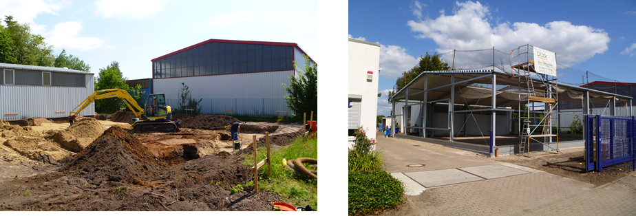 Baustelle Montagehalle Werk 2